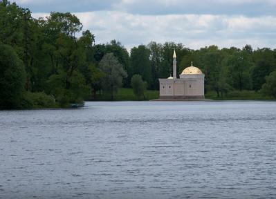 Great Pond. Catherine Park. View to The Moorish-style Turkish Baths (1852) by Ippolito Monighetti.