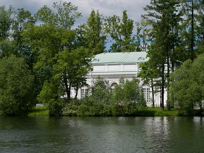 Hall on the island. Ekaterina park.
