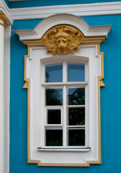 Window in service house. Ekaterina park.