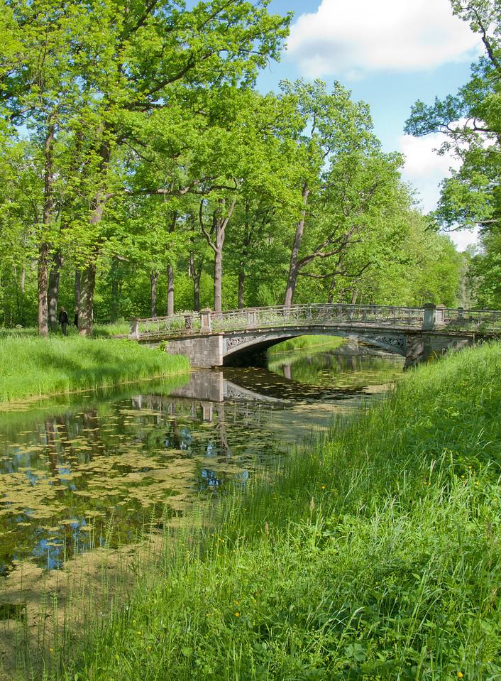 Alexander park. Old bridge.
