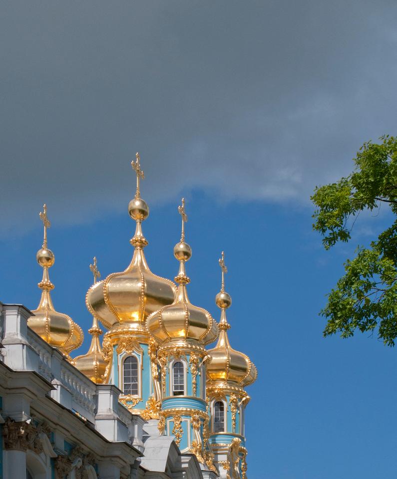Cupolas of Ekaterina Palace.