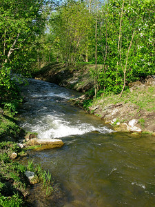 Old-Petergof canal in Meadow (Lugovoi) park.