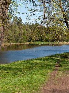 Alexandria Park. Path along pond.