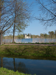 Samson Waterway beginning.View to Olgin Pond and Tsarinin  pavilion
