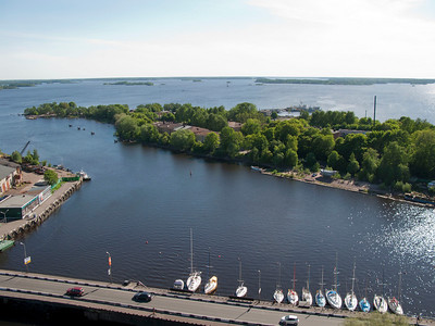 View to Sakkalahti bay  from the inspection gallery of St. Olaf tower