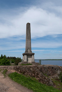 Island of Column. Column to Pavel I and Alexandesr I.