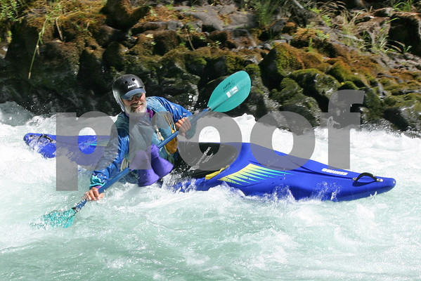 Kayaker on White Salmon River Washington