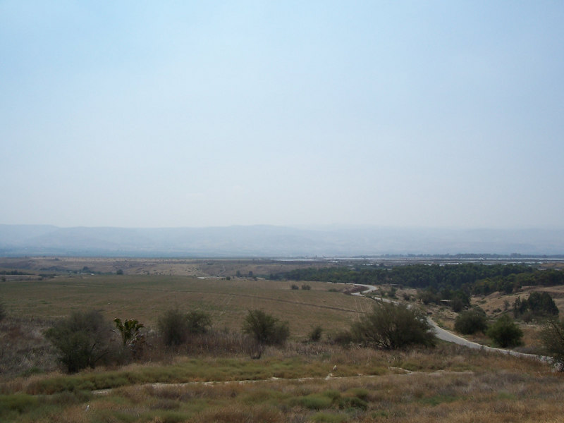 The next 5 photos are overlooking the plain that is the Jordanian Valley.  The mountains in the background are Jordan and at the foot of those mountains is the Jordan River.