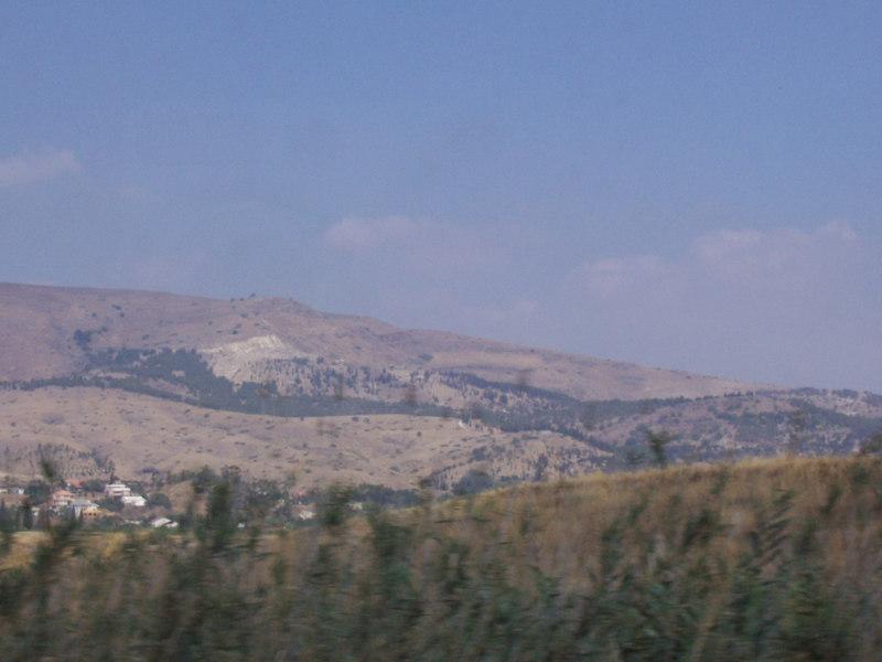 Looking over into Jordan.
