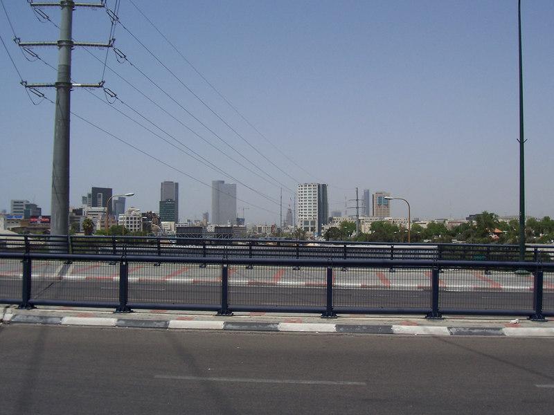Looking into northern Tel Aviv.