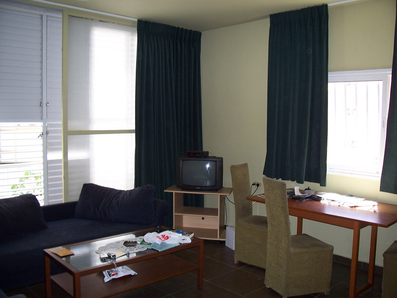 This is the main living room of the apartment I'm living in.  As you can see, TV has made it over here too.