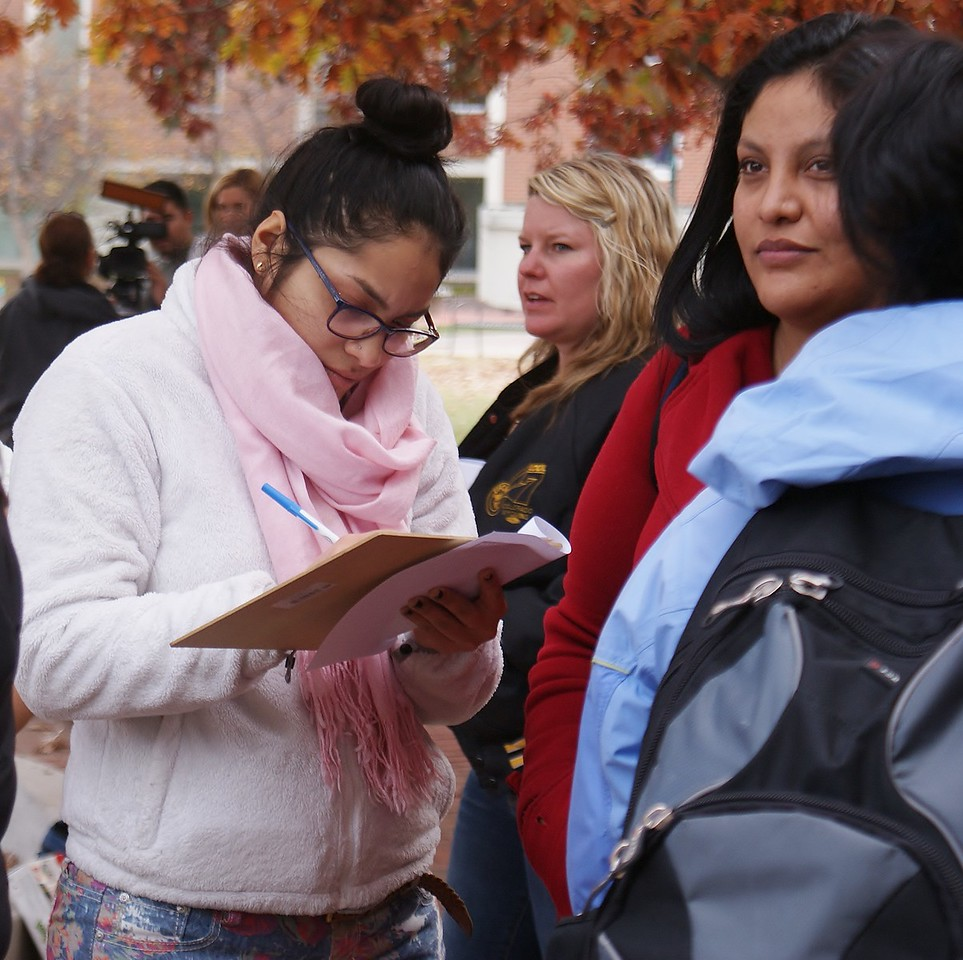 Supporters of the Fair Food Program rallied at Regis University in Denver, then marched to a nearby Wendy's.