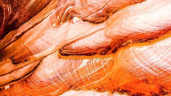 Rock formations petra