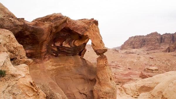 Rock Arch Petra Jordan