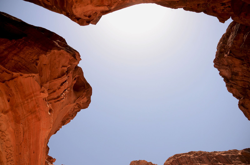 The sky above Petra