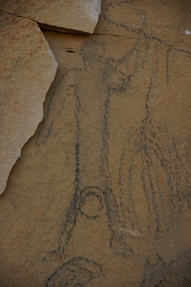 This pictograph is thought to interpret a woman giving birth.