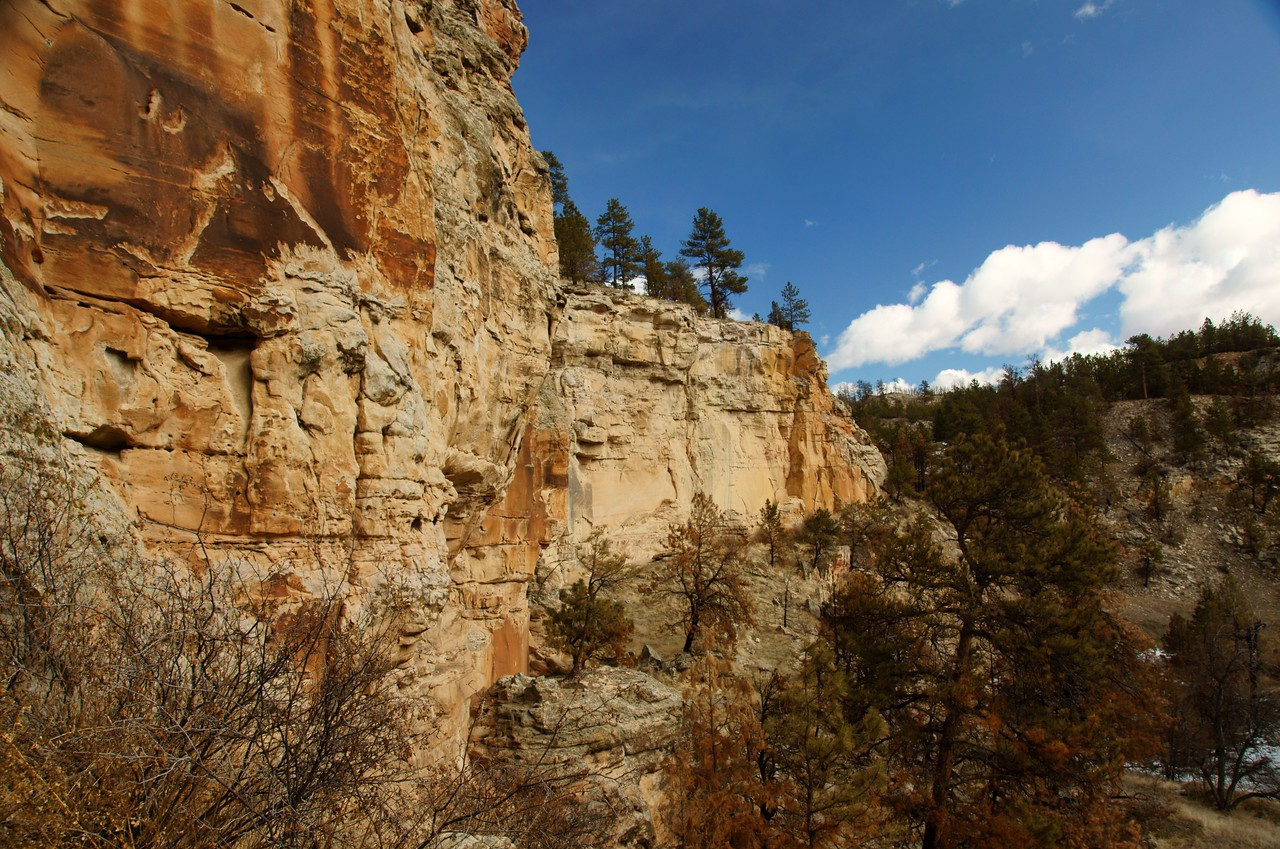 Another view down the canyon wall.