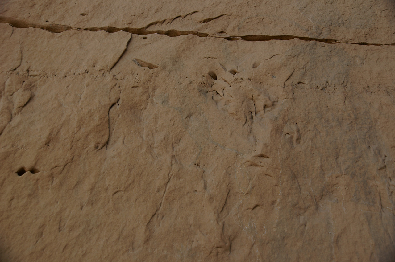 Human shaped pictograph at the third location within the canyon.