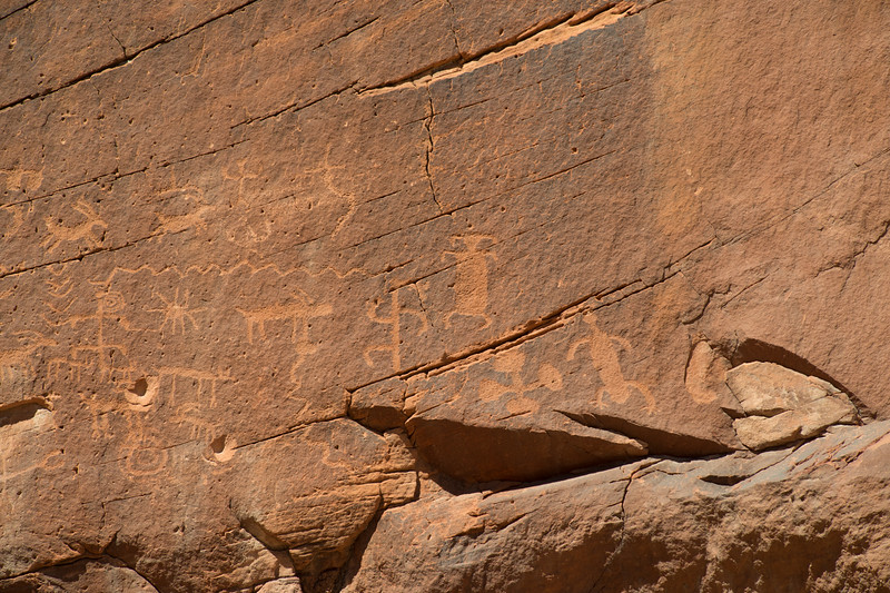 Mud Wash petroglyphs; on your way to Little Finland, you  will drive by this