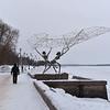 Lake Onega Embankment - Fishermen Sculpture