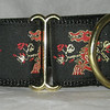 "Dragon Red and Gold1 1/2"" wide martingale collar (NEW COLOR)"