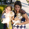 Morgan and Alyson with their new puppies