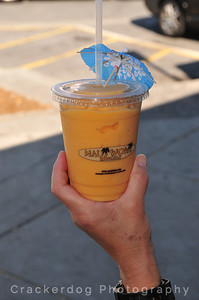 Our mango orange smoothie from Maui Wowi.