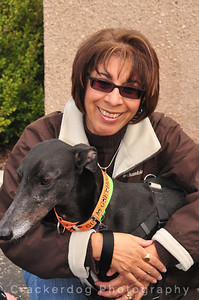 "Telma and Eric (formerly known as Fern, ""Red Fern Flyer""), a Guam greyhound"