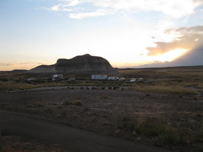 van/trailer at the petrified forest