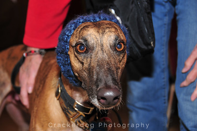 Stevie models a snood.