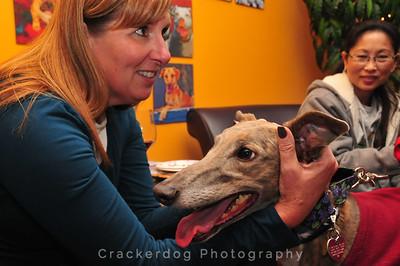 Mary Ann gives Jasmine some good ear-rubbing.