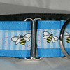"Bumble Bees is 3/4"" wide (shown on island blue grosgrain to make a 1 1/2"" wide collar)"