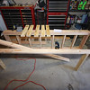 Beginning of the stand framework.  I think it will be easier to build the top and bottom sections and then connect them with the vertical bracing.