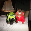 Tag & Amber are a dynamic duo in their Halloween getups.