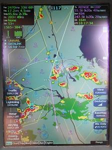 Zig-zaging around storms.