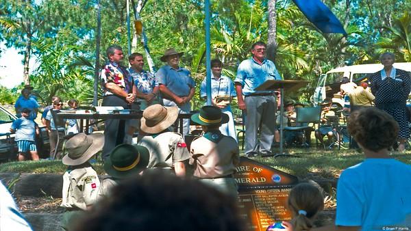 Australia Day in the Nagoa River gardens.