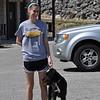 Ms Megan and wonder dog:  Kali