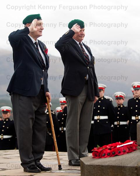 Annual remembrance day parade at the iconic Commando memorial Spean Bridge