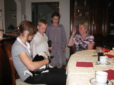 Bezoek Sandy, Conny en kindren