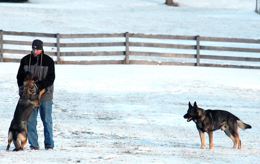 Bill, Bona and Athos<br /> Winter 2015