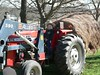 GT2 on the tractor, wearing Frank's hat, after insisting he get to go see the cows.