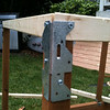 Use these funky joints to attach the floor frame to the posts.