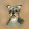 Digital painting of mixed breed wonder dog Razz.   Original photograph and digital oil painting both copyright Lucky Dog Pet Photography.