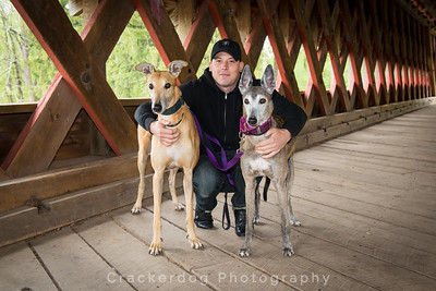 Andy with Split (left) and Marvel