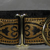 "Celtic Hearts, Black and Gold 1 1/2"" wide"