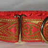 "Celtic Hearts, Red and Gold 1 1/2"" wide"