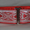 "Celtic Hearts, Red and Silver 1 1/2"" wide"
