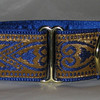 "Celtic Hearts Blue and Gold 1 1/2"" wide"