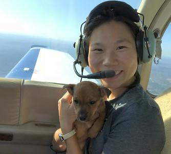 Pilot Jonny's wife  Jean: co-pilot and Army Aviator.