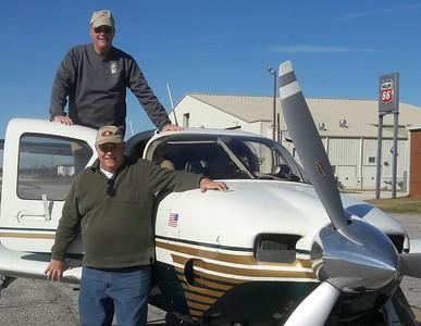 Pilot John and buddy at Selma.